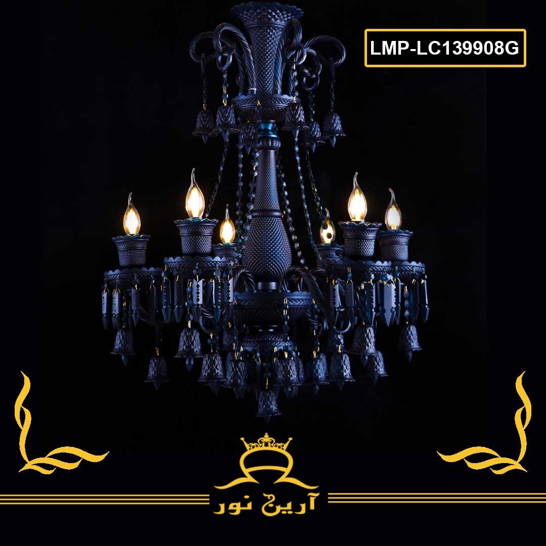 لوستر کریستال باکارا- 8 شاخه-کد LMP-lc8180-08G